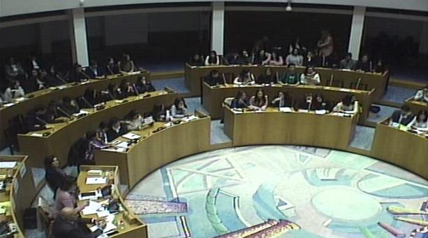 """Assembleia de Crianças da Comissão de Proteção de Crianças e Jovens da Horta - """"Educar para os direitos e deveres""""."""